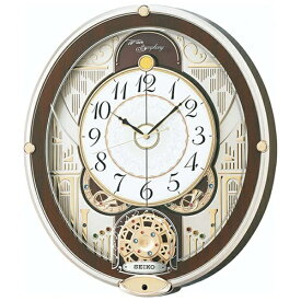 セイコー SEIKO からくり時計 【ウェーブシンフォニー】 薄金色パール RE577B [電波自動受信機能有][RE577B]