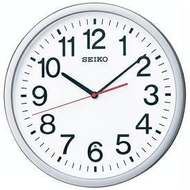 セイコー SEIKO 掛け時計 【オフィスタイプ】 銀色メタリック KX229S [電波自動受信機能有][KX229S]
