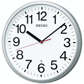 セイコー SEIKO 掛け時計 【オフィスタイプ】 銀色メタリック KX230S [電波自動受信機能有]