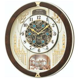 セイコー SEIKO からくり時計 【ウェーブシンフォニー】 茶マーブル模様 RE579B [電波自動受信機能有]