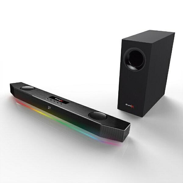 クリエイティブメディア CREATIVE 2.1チャンネル ゲーミングスピーカーシステム Sound BlasterX Katana (ブラック) SBX-KTN