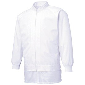 サンエス SUN-S サンエス 男女共用混入だいきらい長袖ジャケット M ホワイト FX70971R-M-C11《※画像はイメージです。実際の商品とは異なります》