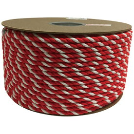 ユタカメイク YUTAKA ユタカ アクリル紅白ロープ 9mmm×150m PRZ-55
