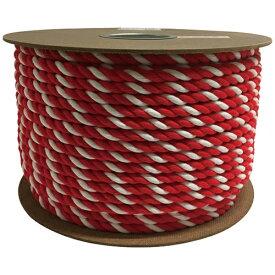 ユタカメイク YUTAKA ユタカ アクリル紅白ロープ 12mm×100m PRZ-65