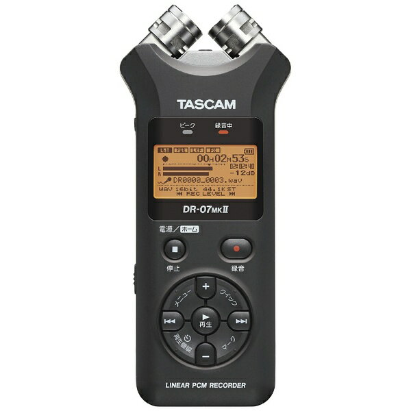 TASCAM DR-07MK2-JJ ICレコーダー [ハイレゾ対応][DR07MK2JJ]