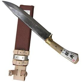 五十嵐刃物工業 鋼典 安来鋼付 山鉈 片刃ツバ付 完全包装 C-30