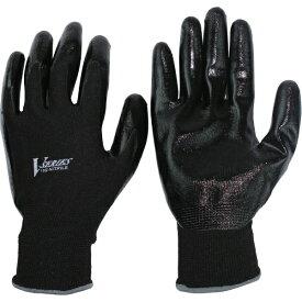 おたふく手袋 OTAFUKU GLOVE おたふく ニトリル背抜き手袋 ブラック LL A-32-BK-LL