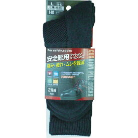 おたふく手袋 OTAFUKU GLOVE おたふく クッションパイルソックス先丸2足組 グレー L S-812-GR-L