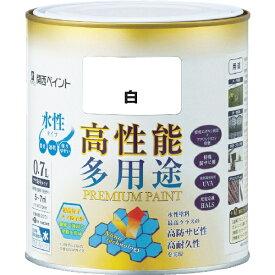 カンペハピオ Kanpe Hapio ALESCO プレミアム水性塗料 0.7L 白 603-001-0.7