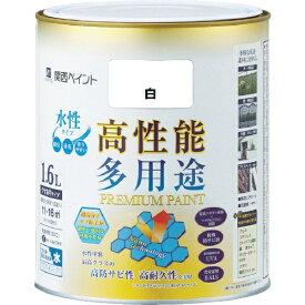 カンペハピオ Kanpe Hapio ALESCO プレミアム水性塗料 1.6L 白 603-001-1.6