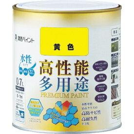 カンペハピオ Kanpe Hapio ALESCO プレミアム水性塗料 0.7L 黄色 603-005-0.7