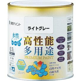 カンペハピオ Kanpe Hapio ALESCO プレミアム水性塗料 0.7L ライトグレー 603-065-0.7