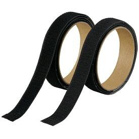 トラスコ中山 TRUSCO マジックテープセット 強粘着 20mm×1m 黒 TMSD-20-BK