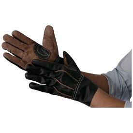 トラスコ中山 TRUSCO 牛本革製手袋 ブラウン L TKBR-L