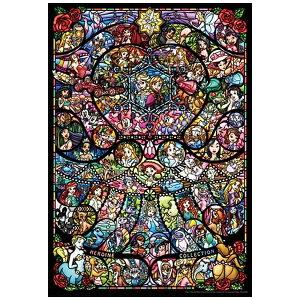 テンヨー ピュアホワイトジグソーパズル DP-1000-028 ディズニー&ディズニー/ピクサー ヒロインコレクション ステンドグラス