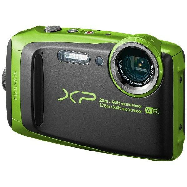 【送料無料】 フジフイルム FUJIFILM 防水コンパクトデジタルカメラ FinePix(ファインピクス) XP120(ライム)