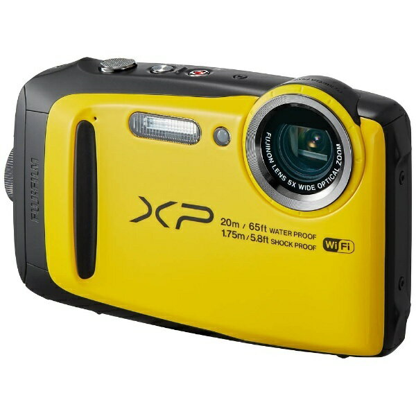 【送料無料】 フジフイルム FUJIFILM 防水コンパクトデジタルカメラ FinePix(ファインピクス) XP120(イエロー)