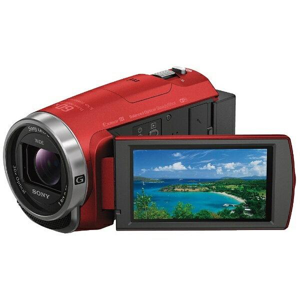 【送料無料】 ソニー SONY メモリースティックマイクロ/マイクロSD対応 64GBメモリー内蔵 フルハイビジョンビデオカメラ(レッド) HDR-CX680(R)[HDRCX680R]