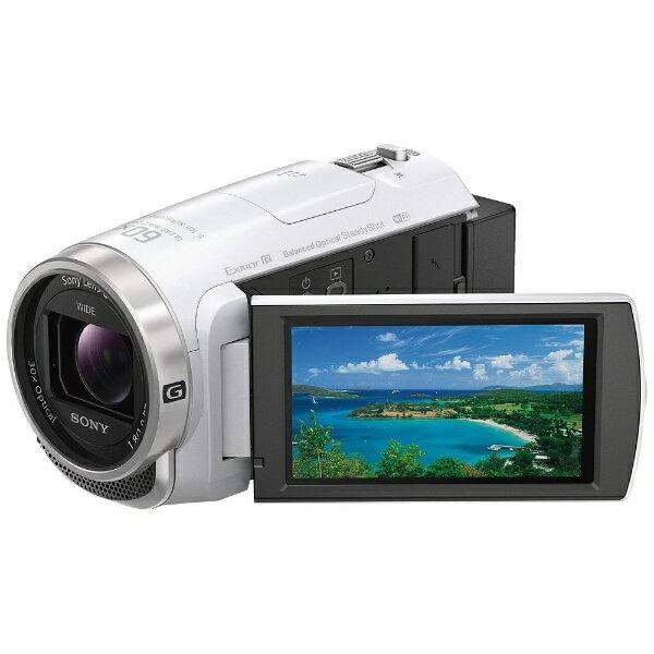 【送料無料】 ソニー メモリースティックマイクロ/マイクロSD対応 64GBメモリー内蔵 フルハイビジョンビデオカメラ(ホワイト) HDR-CX680(W)[HDRCX680W]