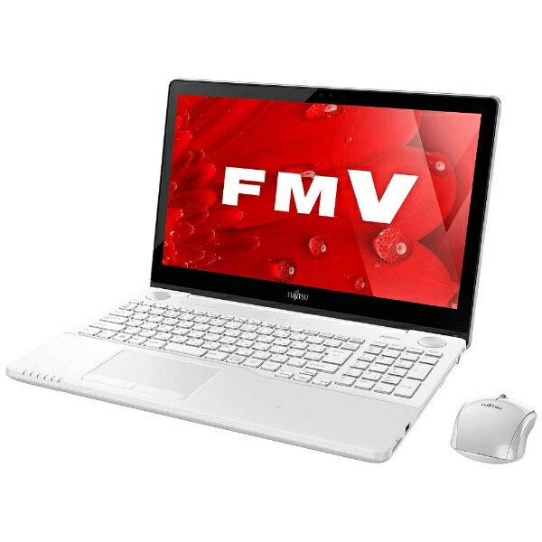 【送料無料】 富士通 15.6型タッチ対応ノートPC[Office付き・Win10 Home・Core i7・HDD 1TB・メモリ 8GB] LIFEBOOK AH77/B1 ホワイト FMVA77B1W  (2017年春モデル)