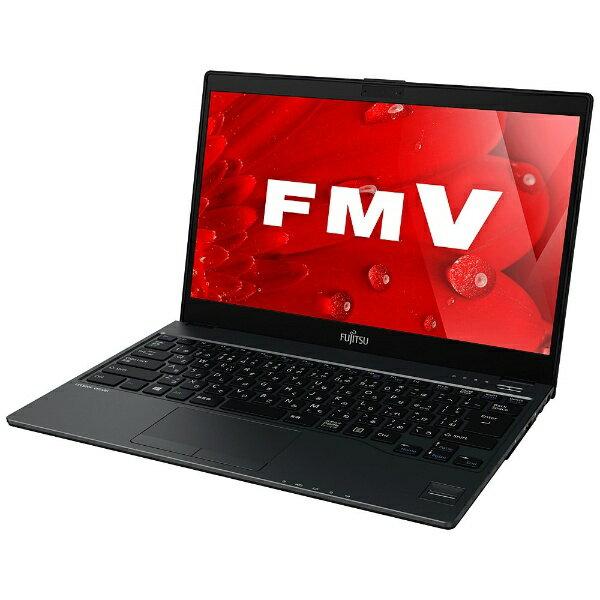 【送料無料】 富士通 13.3型ノートPC[Office付き・Win10 Home・Core i5・SSD 128GB・メモリ 4GB] LIFEBOOK UH75/B1 ブラック FMVU75B1B (2017年春モデル)