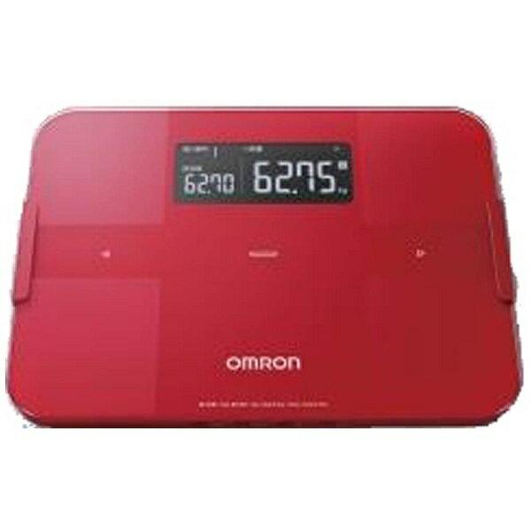 オムロン OMRON HBF-255T 体組成計 KaradaScan(カラダスキャン) レッド [スマホ管理機能あり][HBF255TR]
