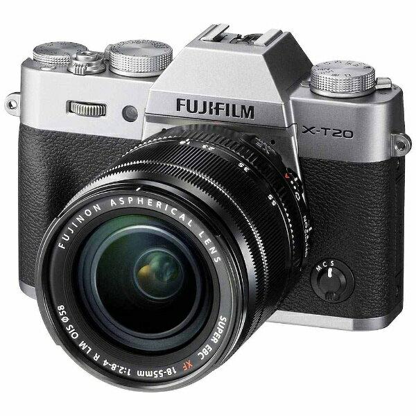 【送料無料】 富士フイルム FUJIFILM FUJIFILM X-T20【レンズキット】(シルバー/ミラーレス一眼カメラ)[FXT20LKS]