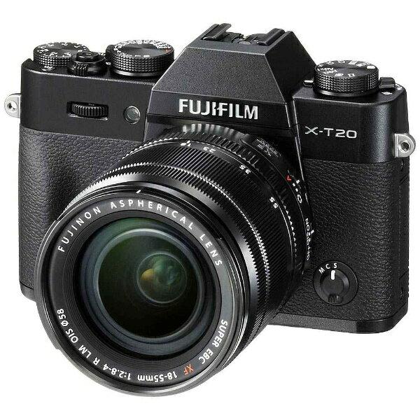 【送料無料】 フジフイルム FUJIFILM FUJIFILM X-T20【レンズキット】(ブラック/ミラーレス一眼カメラ)[FXT20LKB]