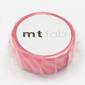 カモ井加工紙 KAMOI mt マスキングテープ mt fabフロッキー(ストライプ・ピンク×レッド) MTFL1P15
