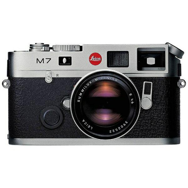 ライカ LEICA M7 Engrave 0.72 レンジファインダーカメラ シルバークローム [ボディ単体][M7ENGRAVE072シルバークロー]