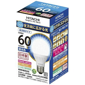 日立 HITACHI LDA7D-G/S/60F LED電球 [E26 /昼光色 /60W相当 /一般電球形 /全方向タイプ][LDA7DGS60F]
