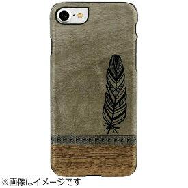 ROA ロア iPhone 7用 Premium 天然木ケース ボヘミアン Man&Wood I9280I7