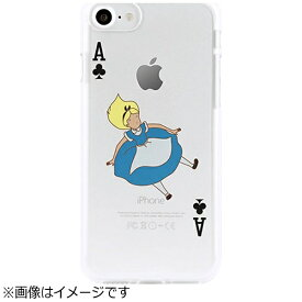 ROA ロア iPhone 7用 ソフトクリアケース トランプ アリス Dparks DS9229I7