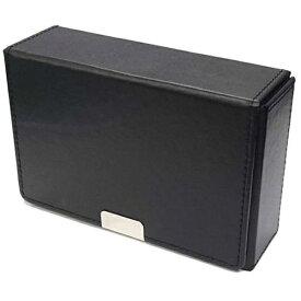 アクラス 合皮製スリムカードケース(ブラック)