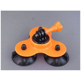 GOBROS. ゴブロス 吸盤式 UFOクランプマント(オレンジ) GB0115