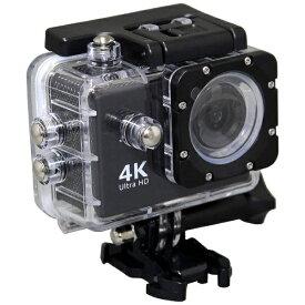 SAC エスエーシー AC600 アクションカメラ Black [4K対応 /防水][AC600B]