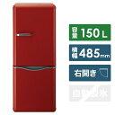 【標準設置費込み】 DAEWOO 2ドア冷蔵庫 (150L) DR-C15AR レッド