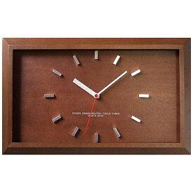 フォーカススリー FOCUS THREE 電波掛け時計 黄金比の時計バーインデックス ブラウン V-0046 [電波自動受信機能有]
