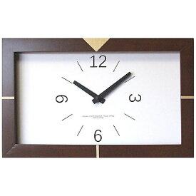 フォーカススリー FOCUS THREE 電波掛け時計 黄金比エッジクロック ブラウン V-0031 [電波自動受信機能有]