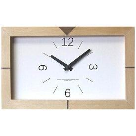 フォーカススリー FOCUS THREE 掛け時計 黄金比エッジクロック ナチュラル V-0032