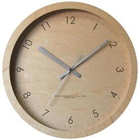 フォーカススリー FOCUS THREE 掛け時計 メープルの時計 ナチュラル V-0045