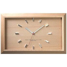 フォーカススリー FOCUS THREE 電波掛け時計 黄金比の時計バーインデックス ナチュラル V-0046 [電波自動受信機能有]