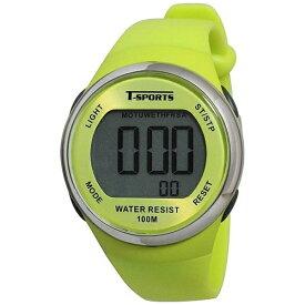 クレファー CREPHA ティー・スポーツ(T-SPORTS) デジタル腕時計 TS-D032-YW イエロー [正規品]
