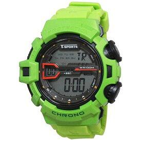 クレファー CREPHA ティー・スポーツ(T-SPORTS) デジタル腕時計 TS-D044-GN グリーン [正規品]