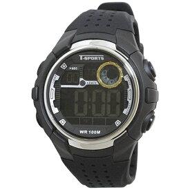 クレファー CREPHA ティー・スポーツ(T-SPORTS) デジタル腕時計 TS-D038-BK ブラック [正規品]