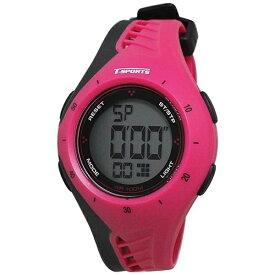 クレファー CREPHA ティー・スポーツ(T-SPORTS) デジタル腕時計 TS-D040-PK ピンク×ブラック [正規品]