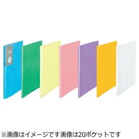 プラス PLUS [ファイル] シンプルクリアーファイル A4-S ブルー 40ポケット FC-240SC