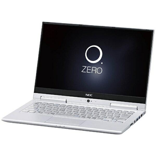 【送料無料】 NEC 13.3型ワイド モバイルノートPC LAVIE Hybrid ZERO[Office付き・Win10・Core i3・SSD 128GB・メモリ4GB] ムーンシルバー PC-HZ350GAS(2017年春モデル)[PCHZ350GAS]