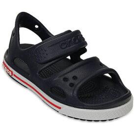クロックス Crocs 16.5cm 子供用 サンダル Kids Crocband II Sandal(C9:Navy×White) 14854