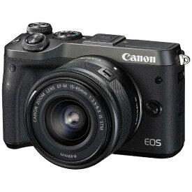 キヤノン CANON EOS M6 ミラーレス一眼カメラ EF-M15-45 IS STM レンズキット ブラック [ズームレンズ][EOSM6BK1545ISSTMLK]
